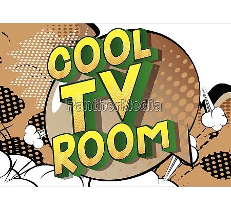 cool tv room comic book