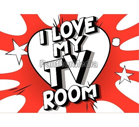 i love my tv room