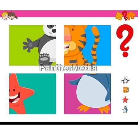 guess cartoon animals task for children