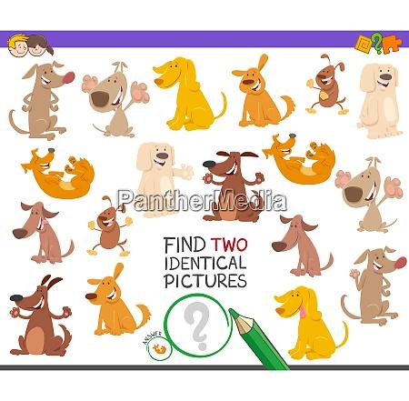identisch paar puzzle bildung cartoon illustration