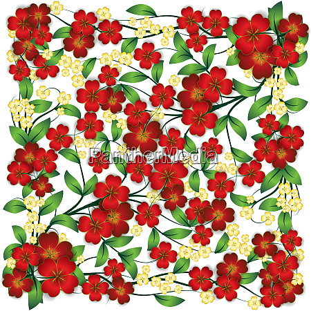 abstract floral ornament on white background