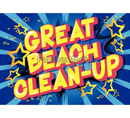 great beach clean up comic