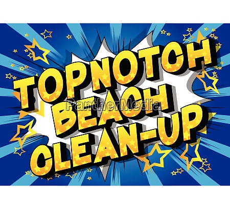 topnotch beach clean up comic