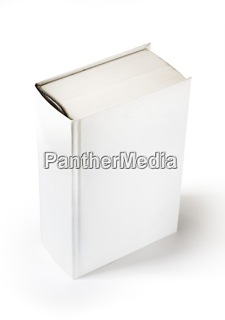 closed blank dictionary book isolated on