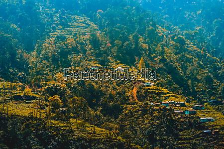 panorama landscape view of himalayan kashmir