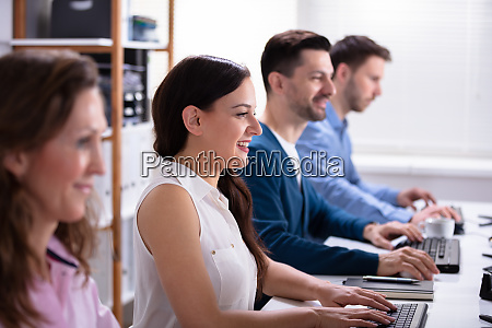 business people using computer