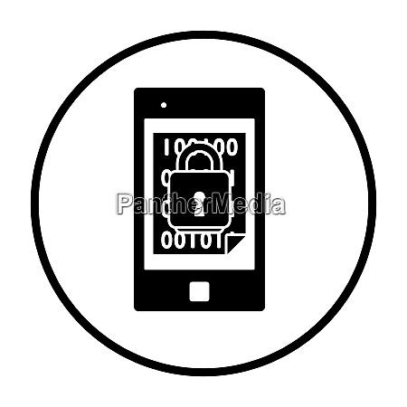 mobiles sicherheitssymbol