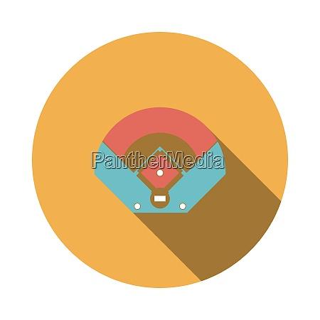 baseball field aerial view icon