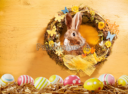 happy easter greeting card background