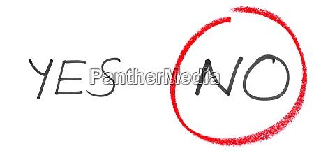 nein und nicht ja handschriftlicher