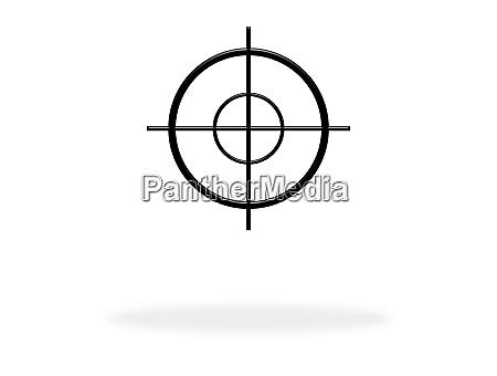 fadenkreuz symbol fuer ziel