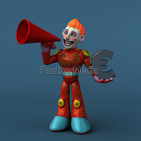 super modern superhero 3d illustration