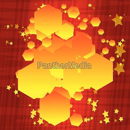 comic book background hexagon shaped bubble