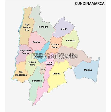 administrative politische vektor karte kolumbien departement