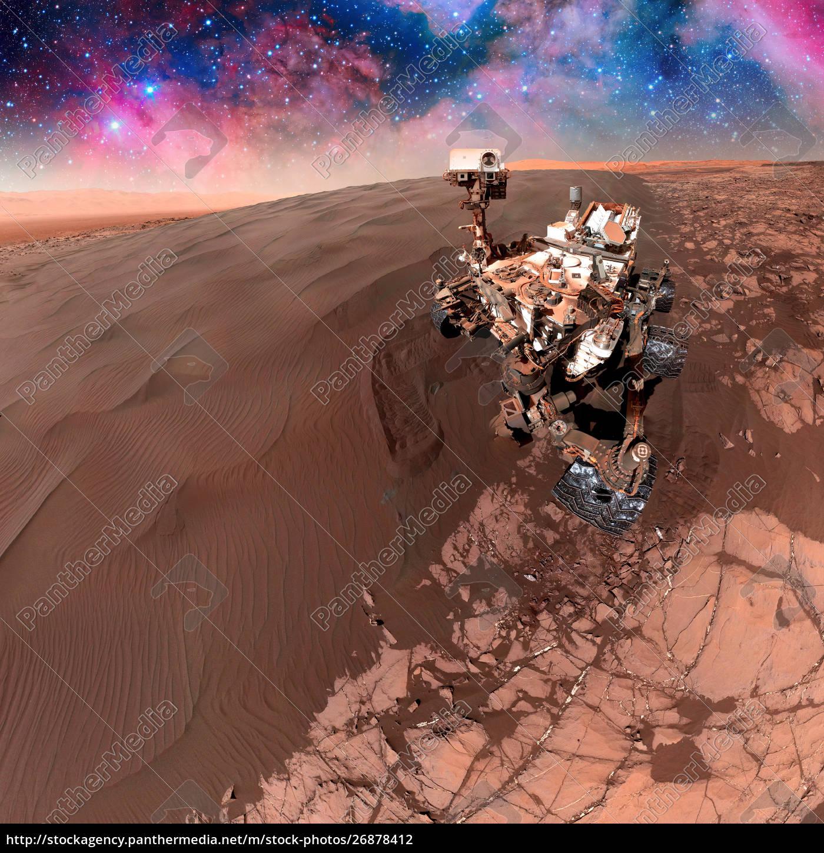 curiosity, rover, der, die, oberfläche, des, mars - 26878412