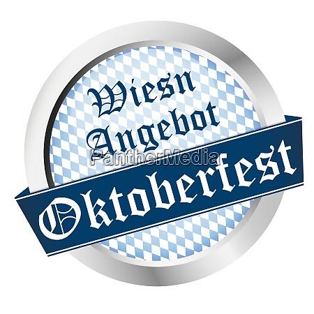 button oktoberfest deutschland muenchen