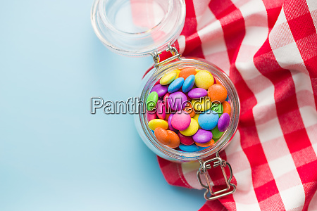 colorful chocolate candy pills