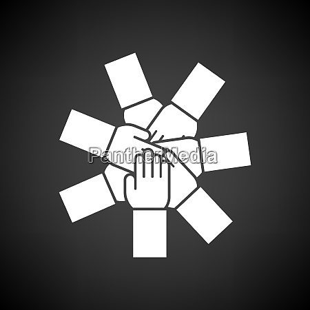 unity and teamwork icon