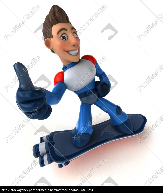 super, moderne, superheld, -, 3d-illustration - 26885254