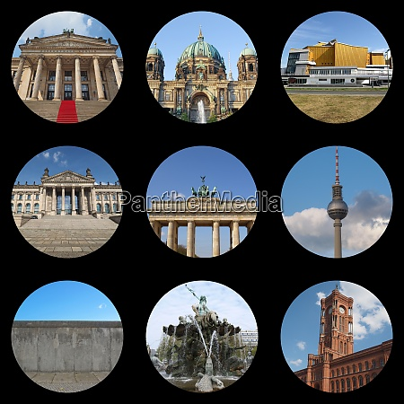 berliner wahrzeichen collage
