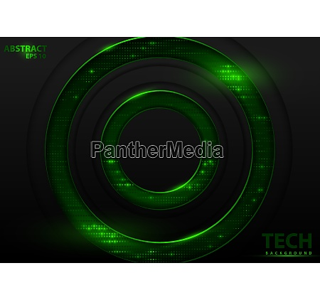 dark abstract tech background with green