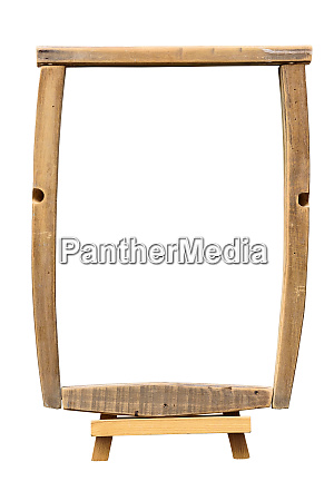 wooden picture frame on the easel
