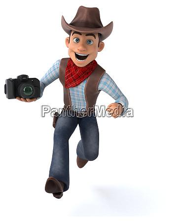 spass cowboy 3d illustration