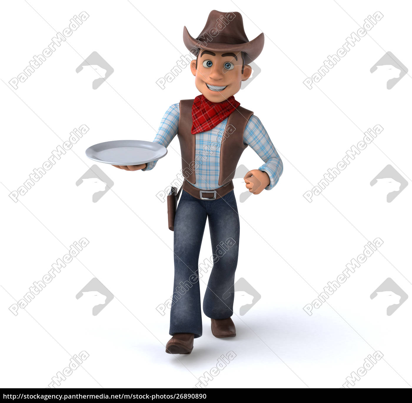 spaß, cowboy, -, 3d-illustration - 26890890