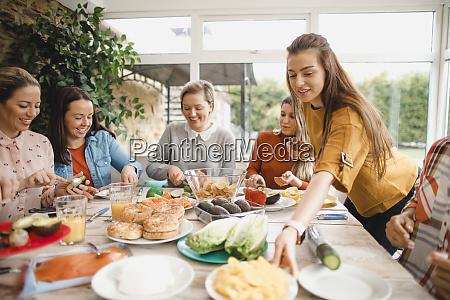 enjoying lunch together