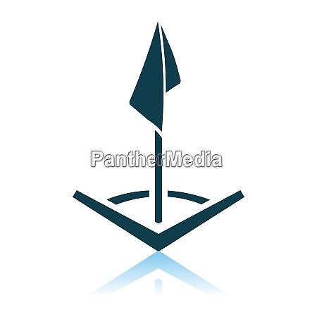 soccer corner flag icon
