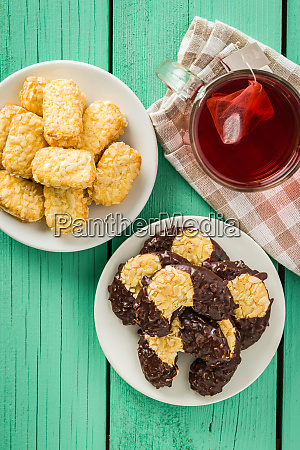 sweet biscuits dessert and red fruity
