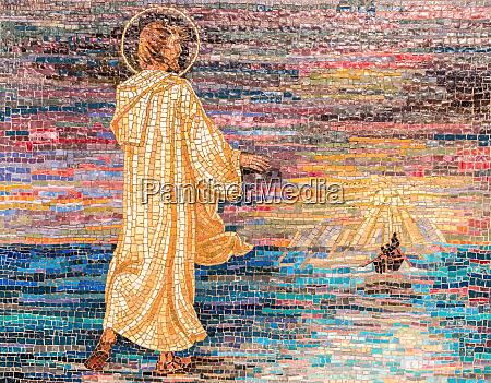 religioeses mosaik von jesus christus