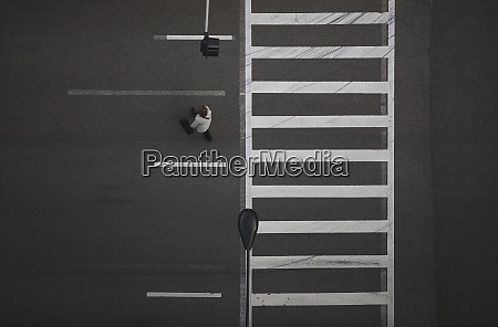 high angle view of pedestrian crossing