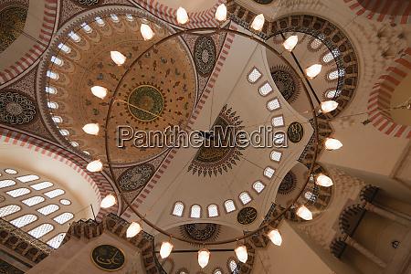low angle view of ornate lighting