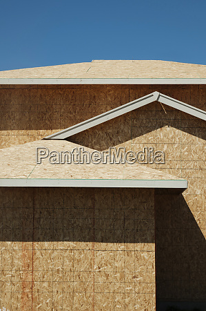 low angle view of chip board