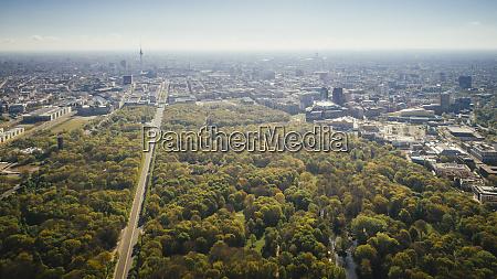 drone point of view sunny tiergarten