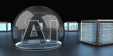 3d rendering digitale kubische einheiten die