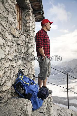 austria tyrol man on a hiking