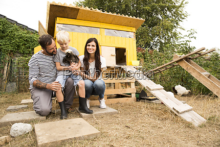 portrait of happy family with polish