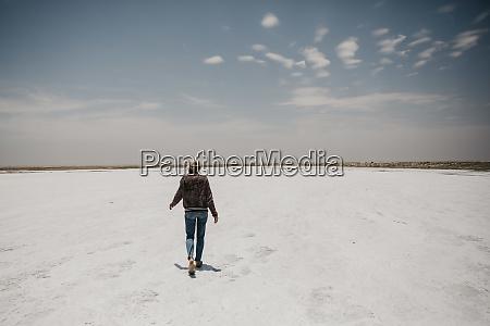 namibia walvis bay woman walking on