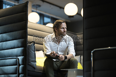 business man in office lounge area
