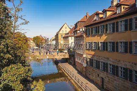 germany bavaria bamberg old town regnitz