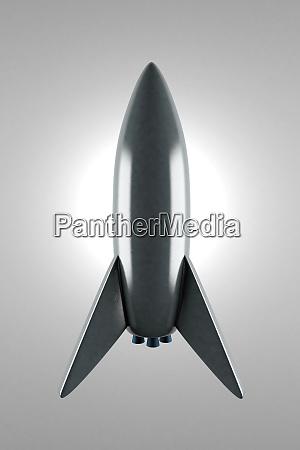 3d gerenderte illustration eines konzeptionellen raketenbildenden