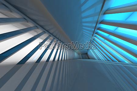 futuristisch leerer raum 3d rendering