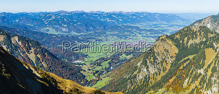 germany bavaria allgaeu allgaeu alps panoramic