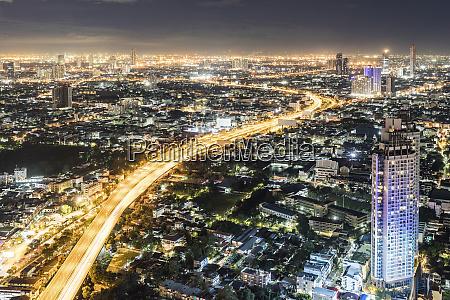 thailand bangkok aerial view of the