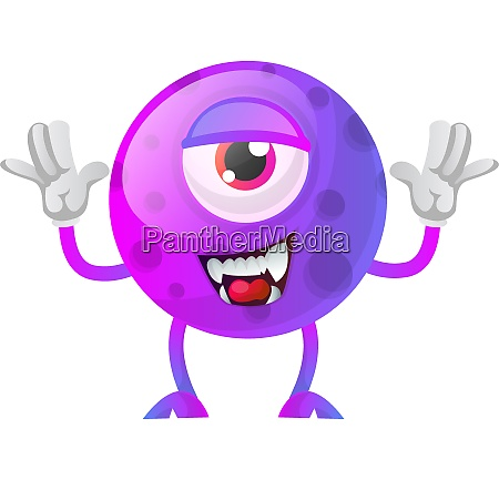 purple monster posing for a photo