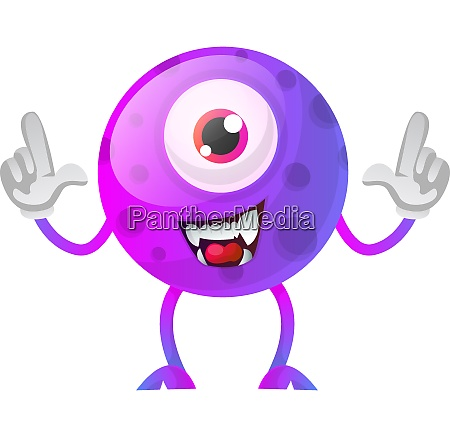 one eyed purple monster with hands