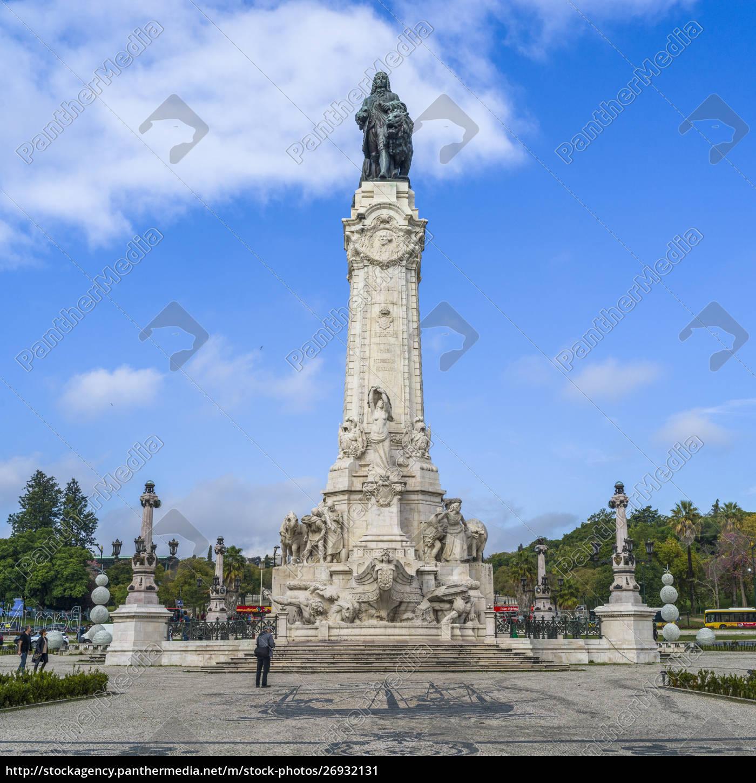 der, platz, des, pombal, ist, lissabon, portugal - 26932131