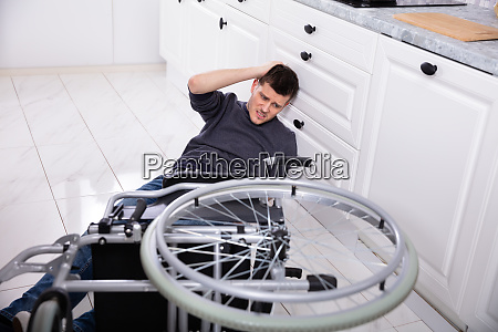 disabled man fallen out of his